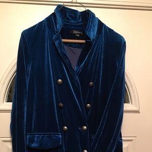 Jackets & Blazers - Dark Turquoise Velvet Duster
